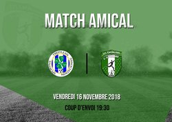 MATCH AMICAL VENDREDI 16 NOVEMBRE