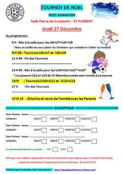 Tournoi de Noël - Foot Animation - 27 décembre
