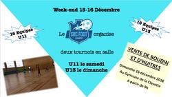 Tournois en salle U11 et U13 - SRC Foot La Clayette