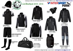 Boutique du Club 2018-2019  (Partenariat Puma & Intersport)