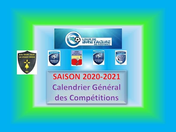 Actualité   LIGUE DE BRETAGNE : CALENDRIER GÉNÉRAL   club