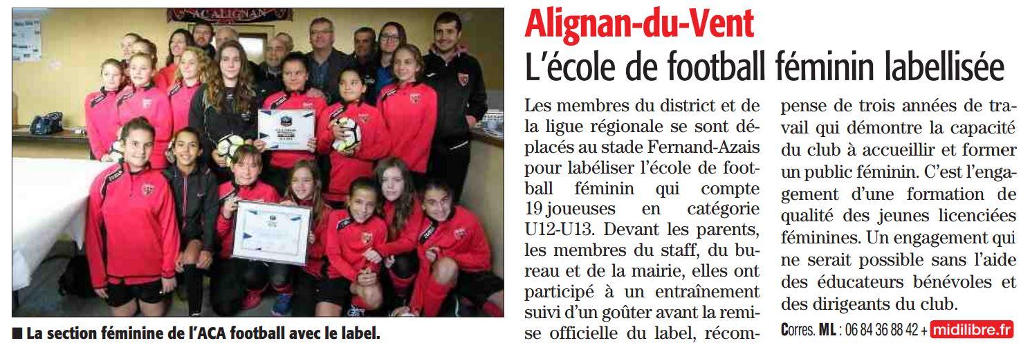 parution Midi Libre 20/11/16