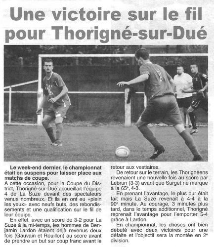 Coupe du maine, saison 2014-2015 : AS Thorigne - La Suze 4