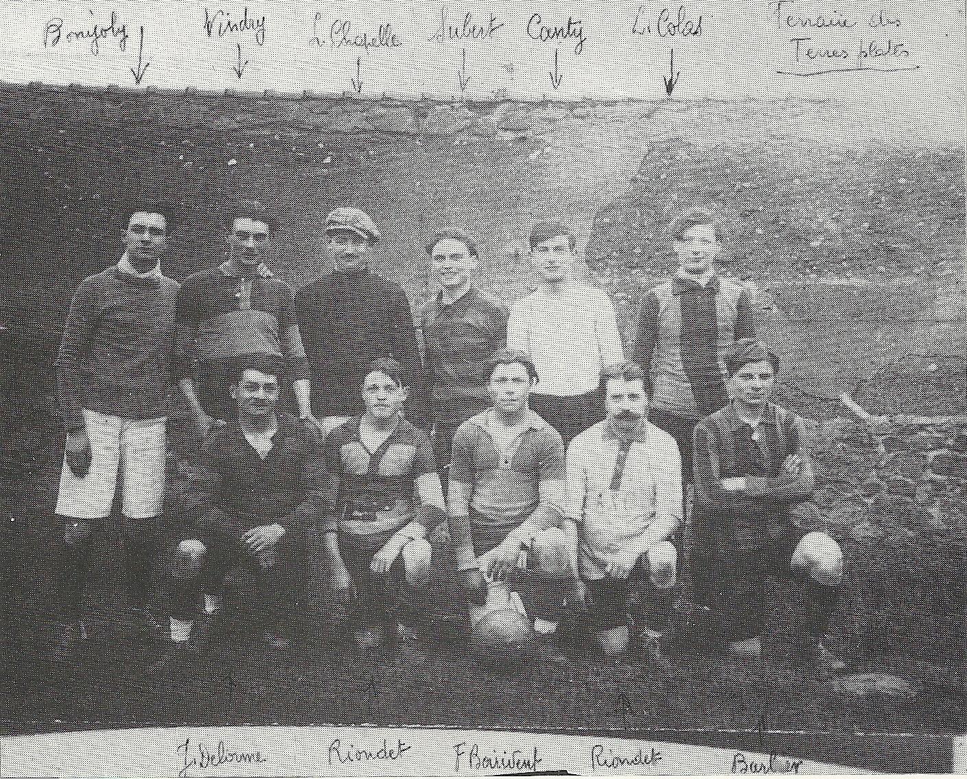 Photo de l'équipe qui disputait la