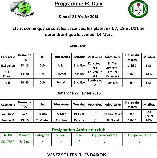 Programme - Fichier Internet