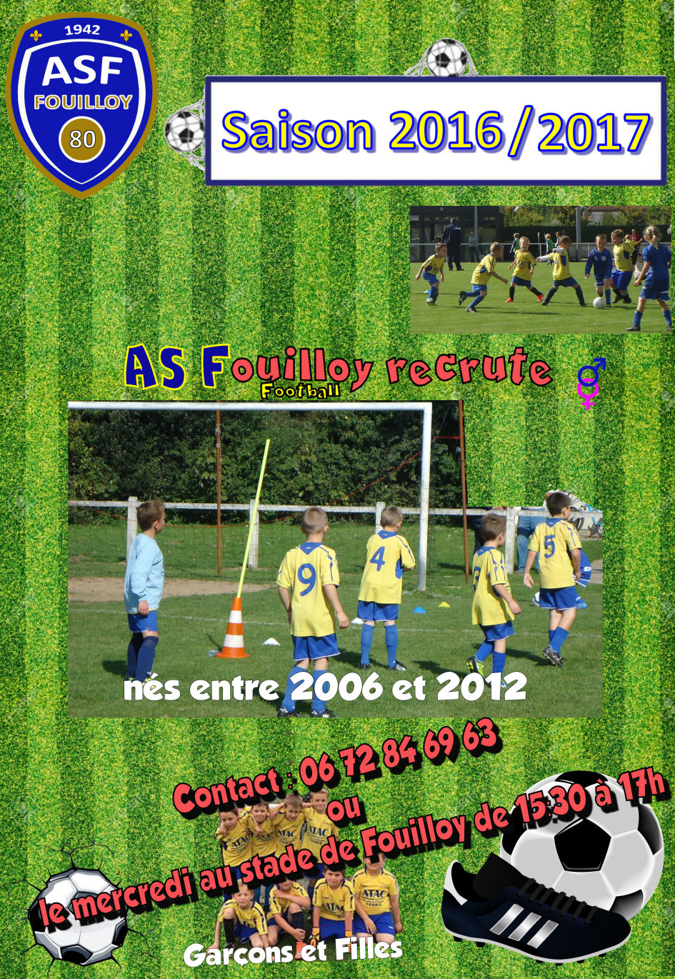 Recrutement Football Fouilloy 80800