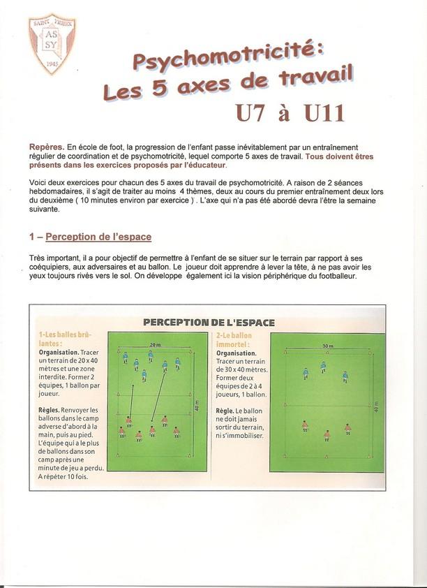 Exercices De Psycho Motricite U7 A U11 Club Football Amicale Sportive De Saint Yrieix Footeo