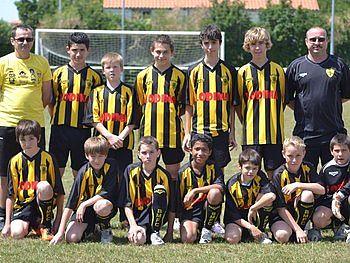 Equipe 1/2 finaliste de la Coupe Départementale U12/13 saison 2010/ 2011