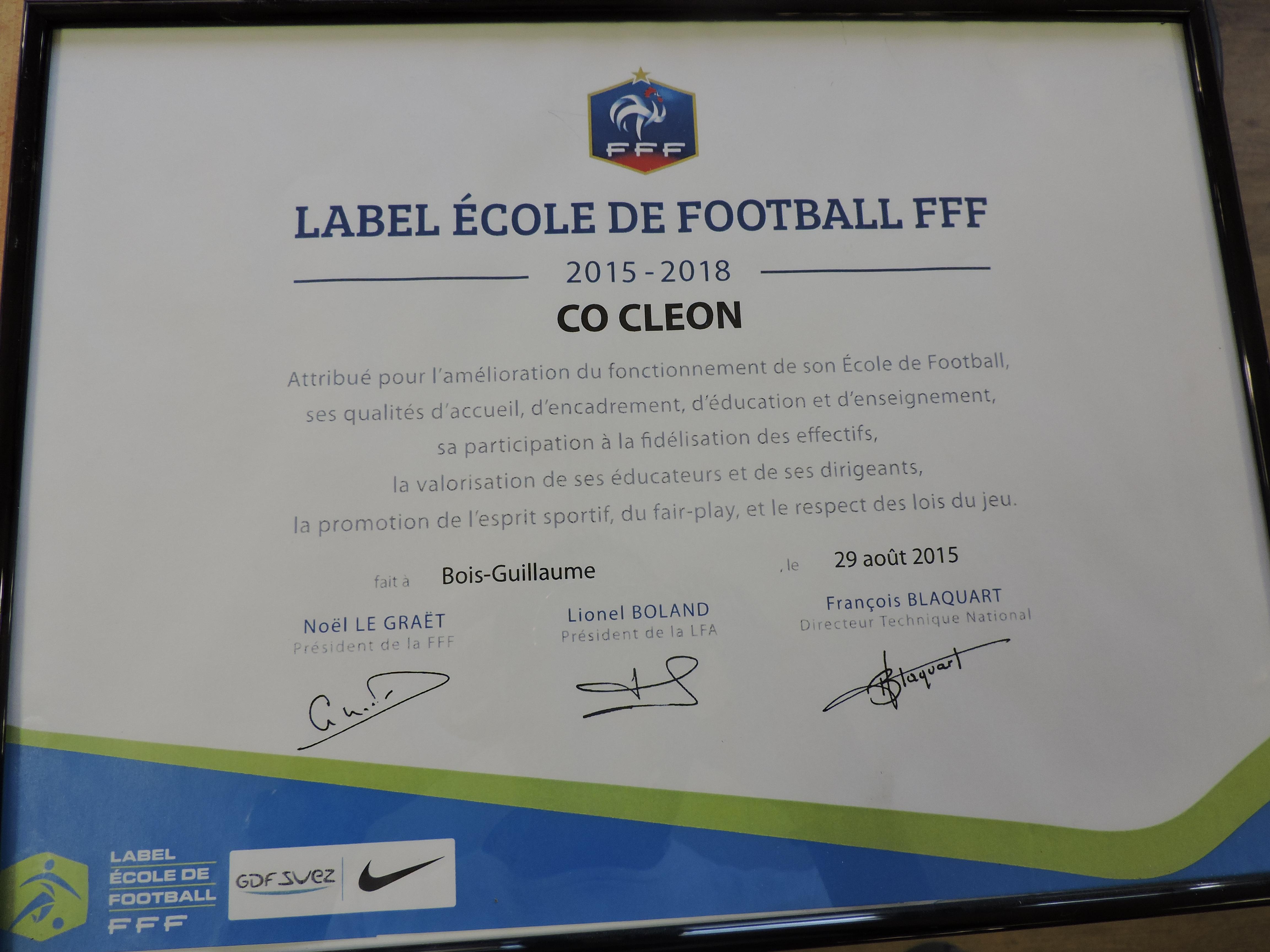 Label École de Football
