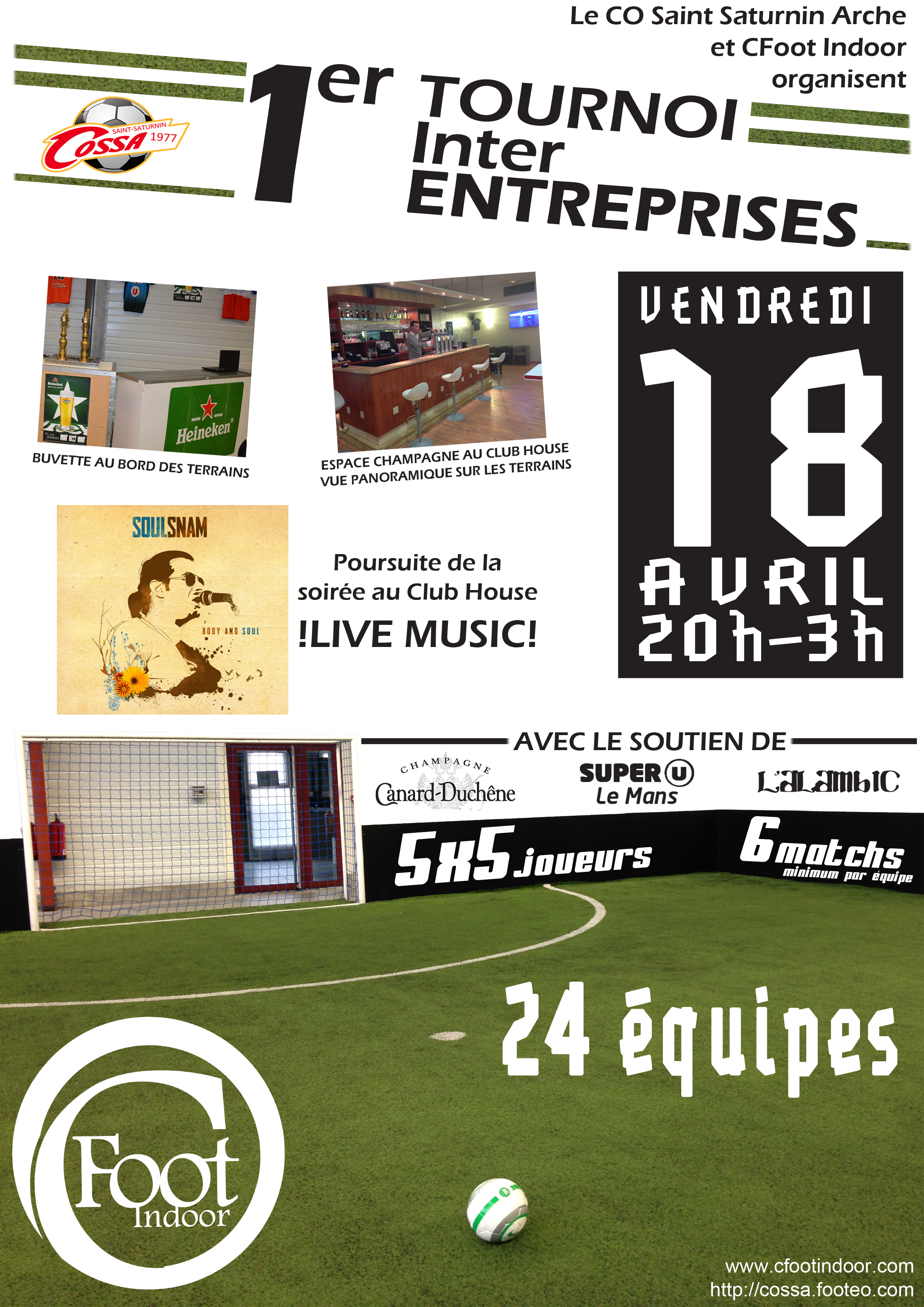Affiche Tournoi Inter Entreprises 2014