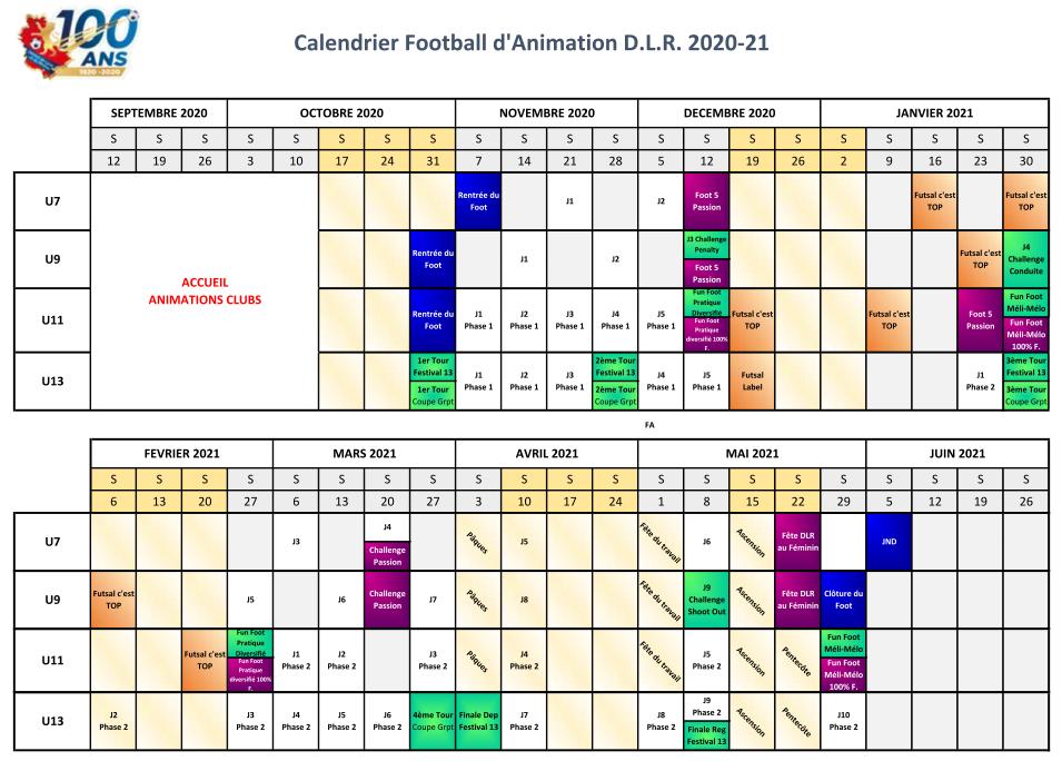 Calendrier FA 2020 2021