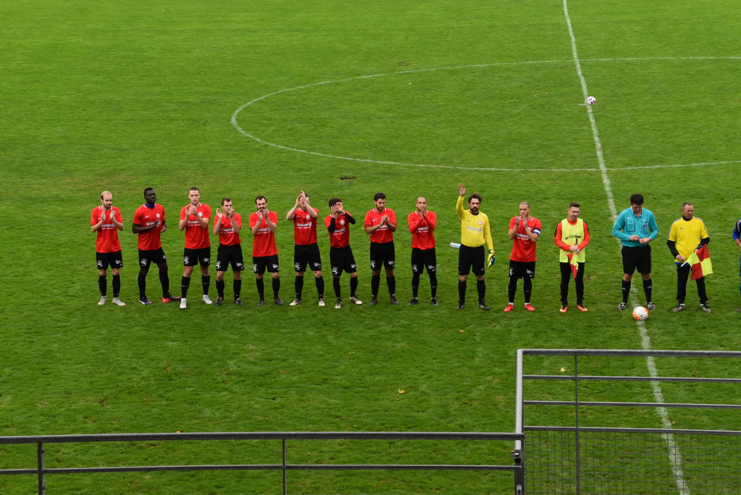 Les 11 joueurs titulaires : CS josselinais - Indépendante Mauron