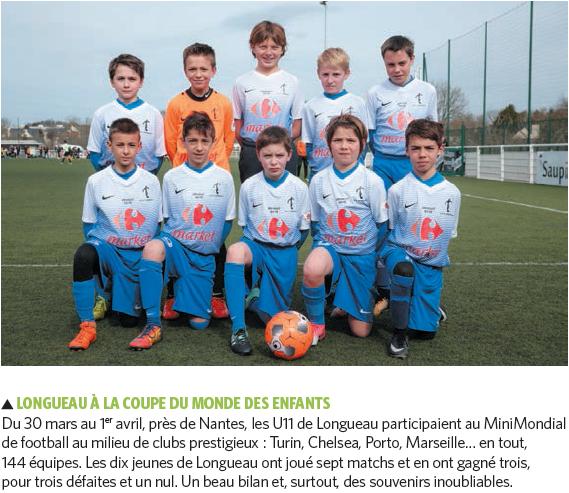 Actualité U11 Longueau A Participé Au Mini Mondial Club