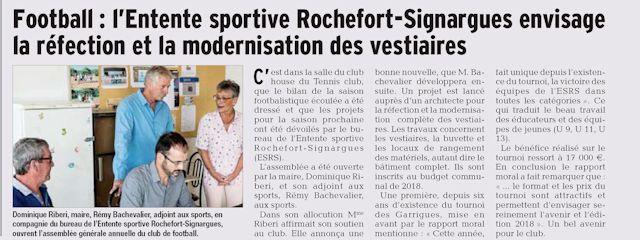 Article Vaucluse matin du 03/07/17