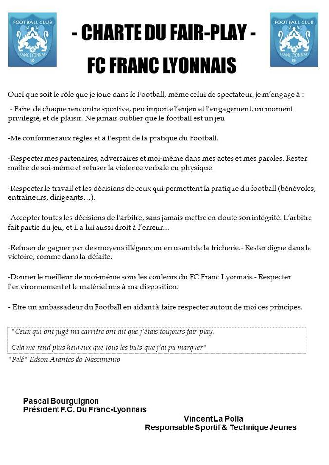 Charte Du Fair-Play