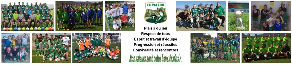 Football Club Vallon Pont d'Arc : site officiel du club de foot de VALLON PONT D ARC - footeo