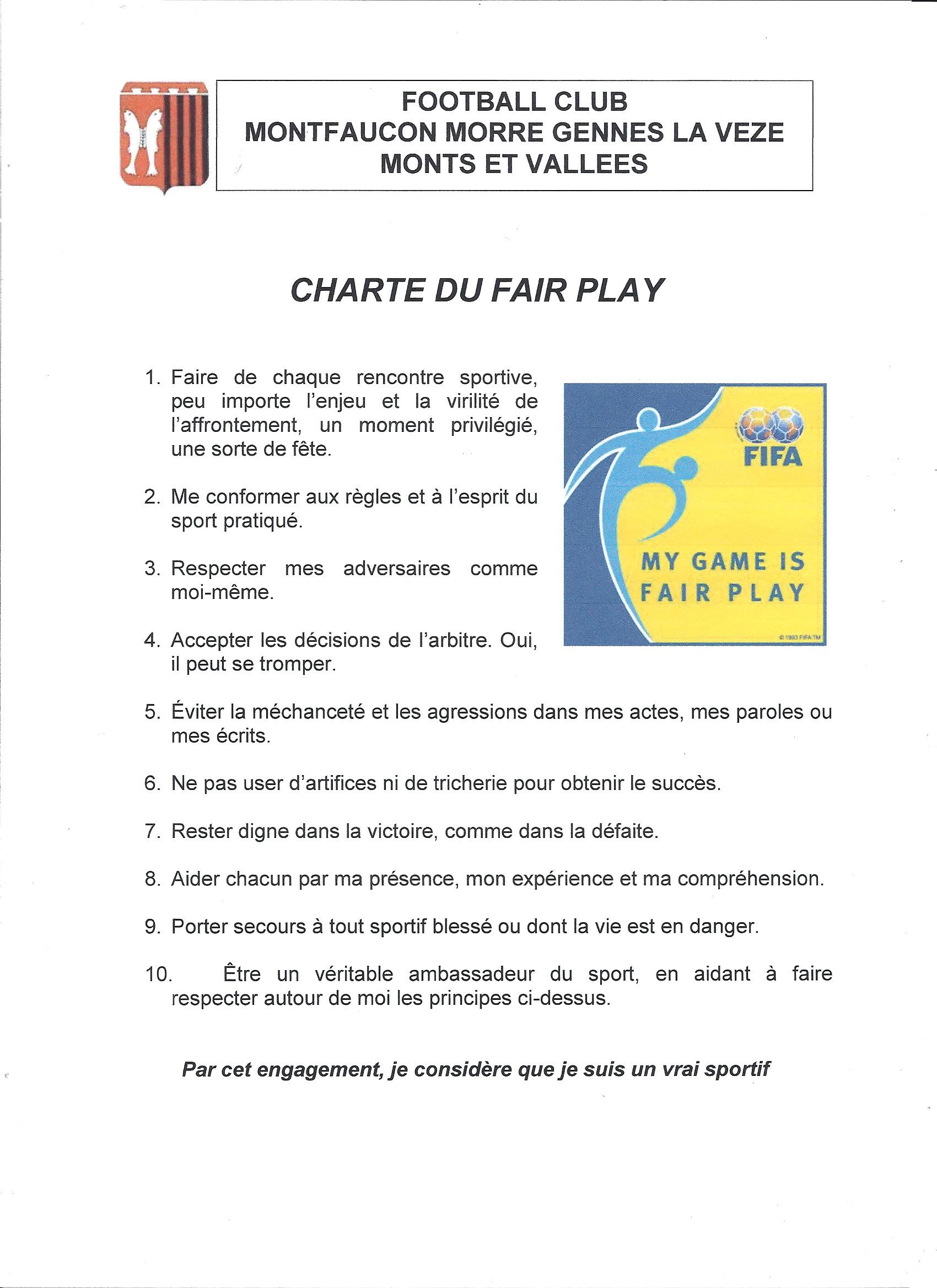 Charte fairplay