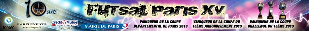 Futsal Paris XVéme : site officiel du club de foot de PARIS 15EME ARRONDISSEMENT - footeo