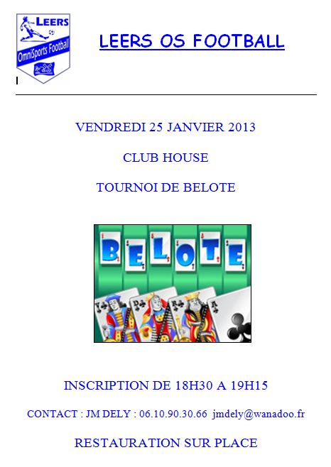 Belote Janvier 2013