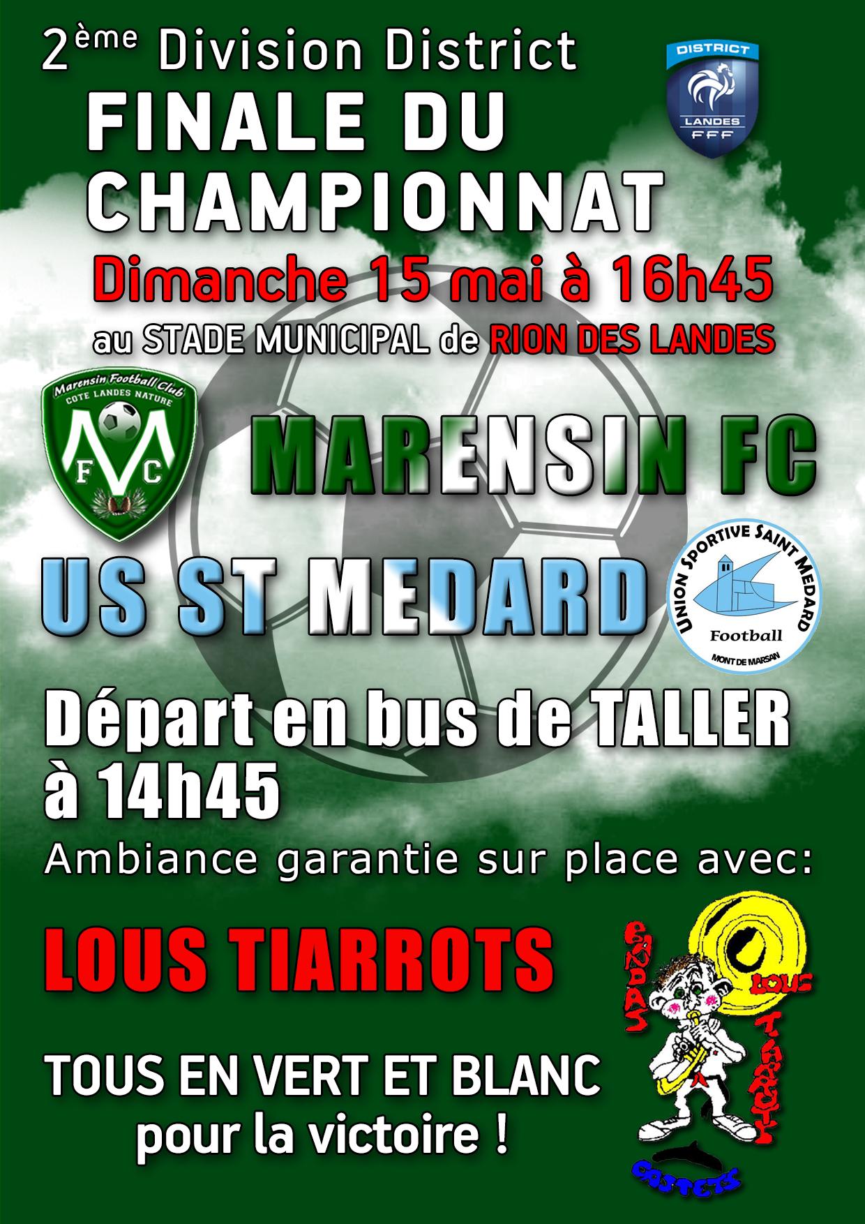Finale championnat Marensin FC - US St-Médard