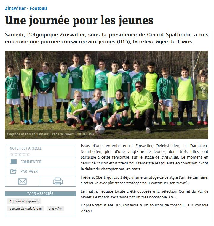 Article DNA du vendredi 3 mars 2017
