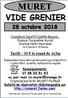 RCMURET: VIDE GRENIER 28 Octobre 2018