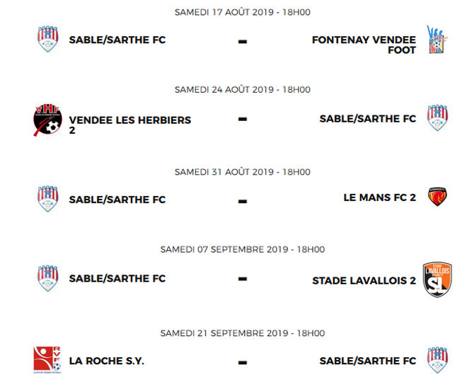 Calendrier National Foot 2020 2019.Actualite Les Calendriers N3 R1 R3 Sont Sortis Club
