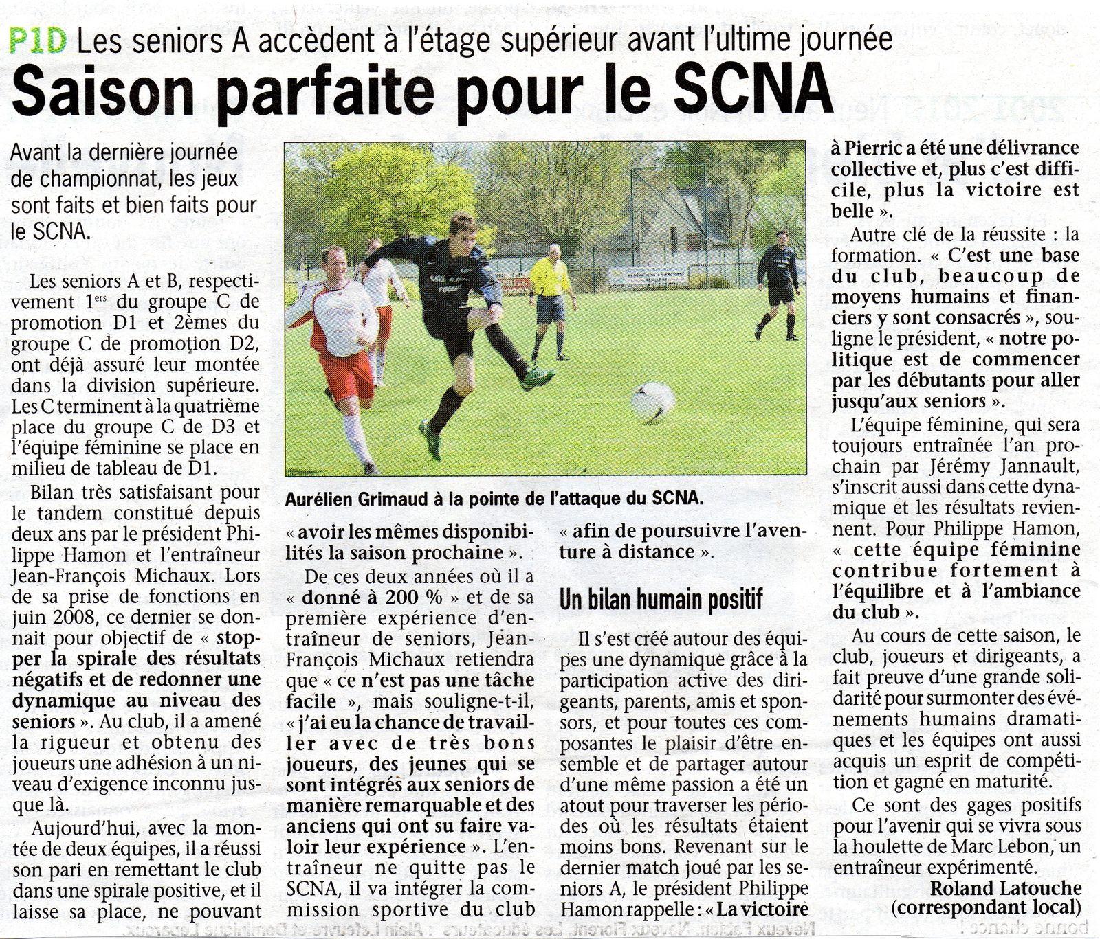 Saison parfaite pour le SCNA