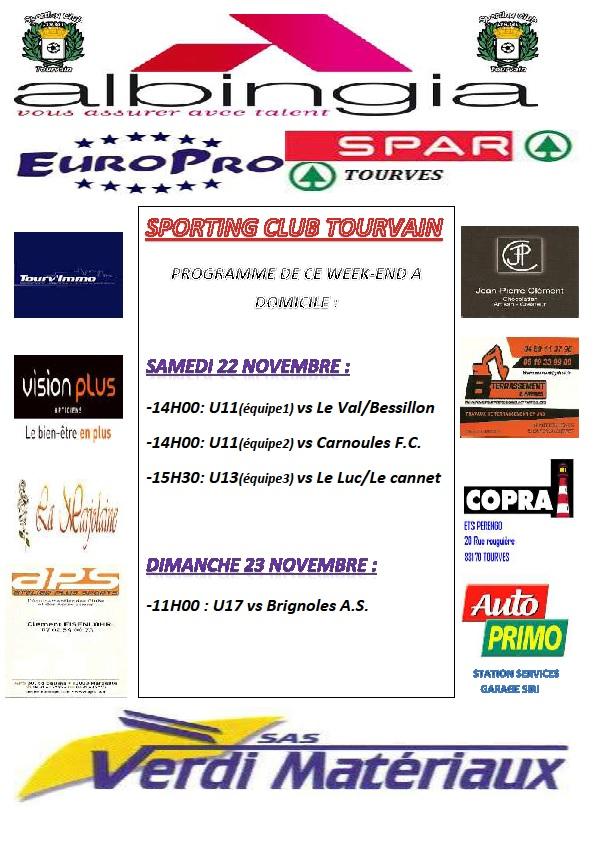 Programme du 21 au 23 novembre