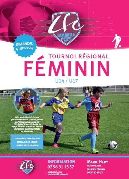 Affiche tournoi féminin LFC