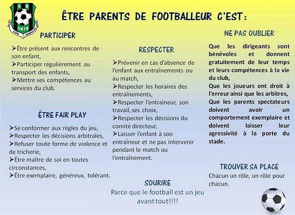 Être parents de footballeur.
