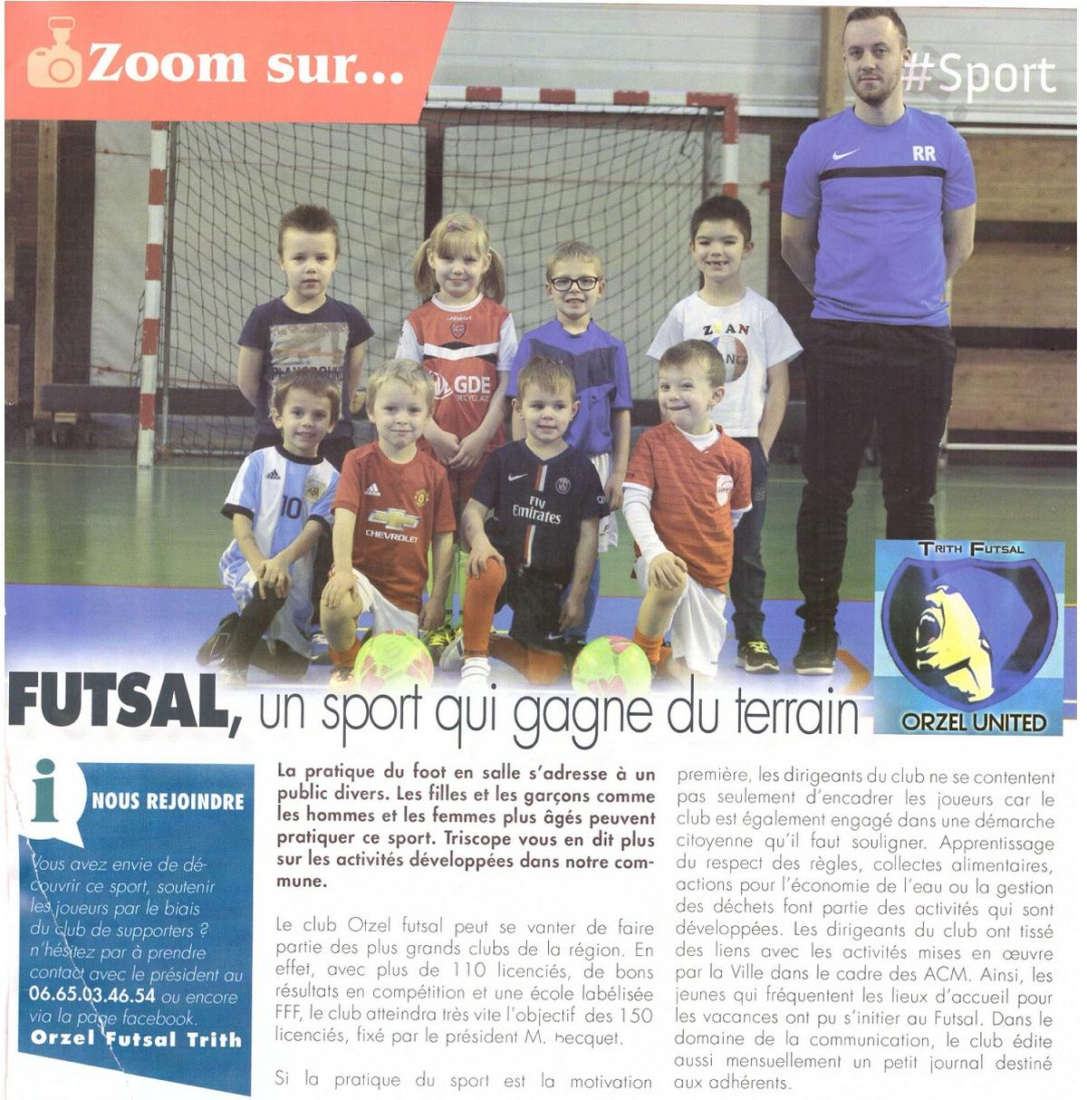 actualit article du triscope d 39 avril 2017 sur club football orzel futsal trith footeo. Black Bedroom Furniture Sets. Home Design Ideas