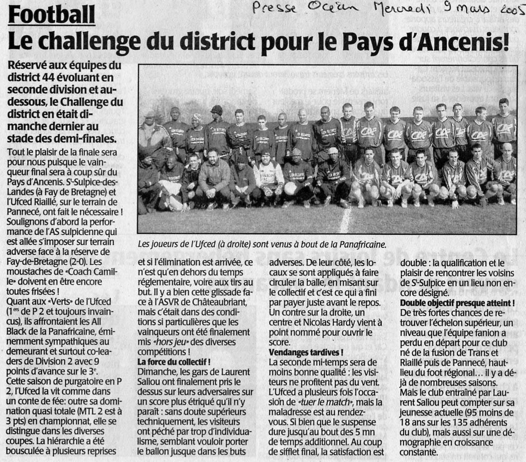 Presse-Océan, 9 mars 2005