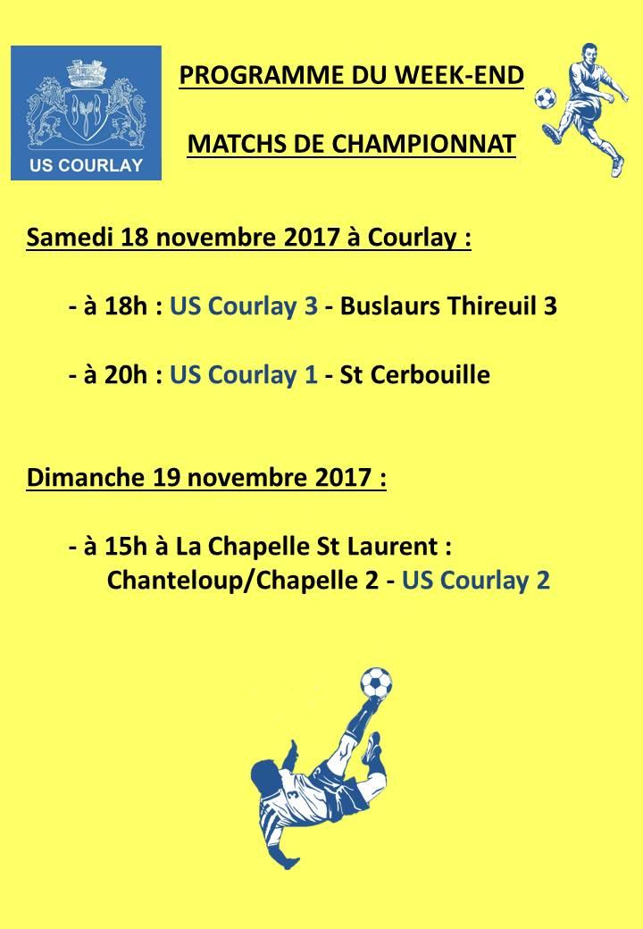 2017_11_16 Matchs_au_programme_du_week_end
