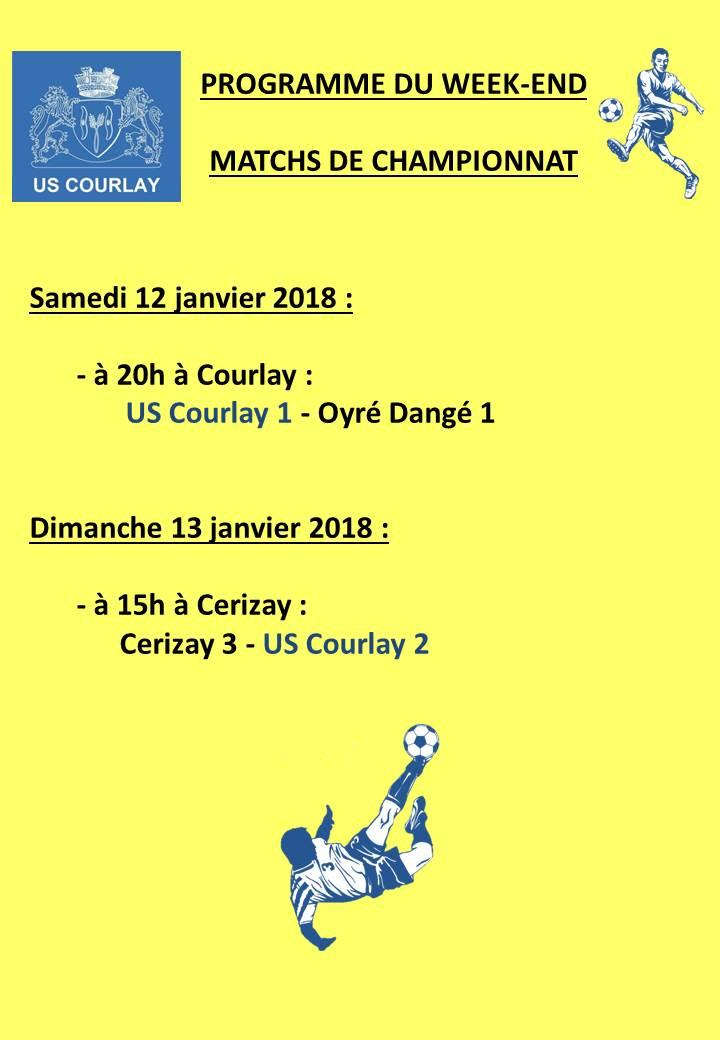 2018_01_12 Matchs_au_programme_du_week_end