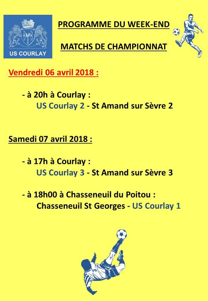 2018_04_05 Matchs_au_programme_du_week_end