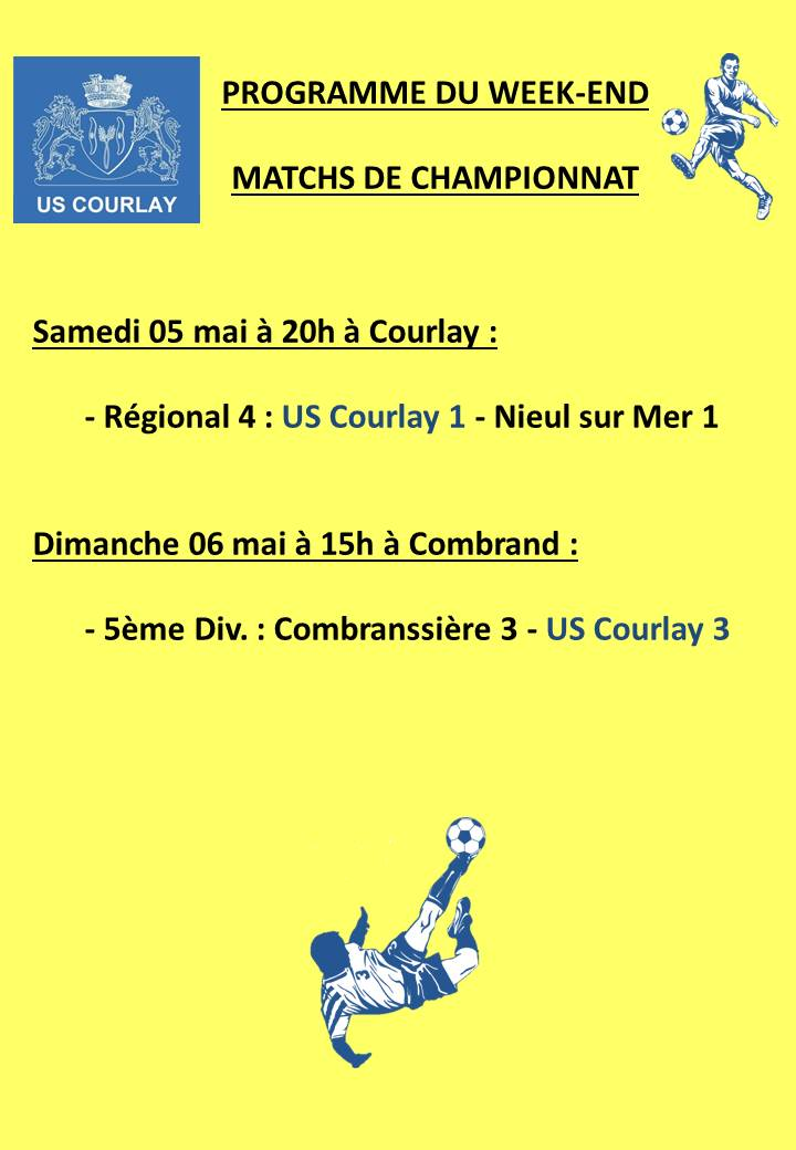2018_05_04 Matchs_au_programme_du_week_end
