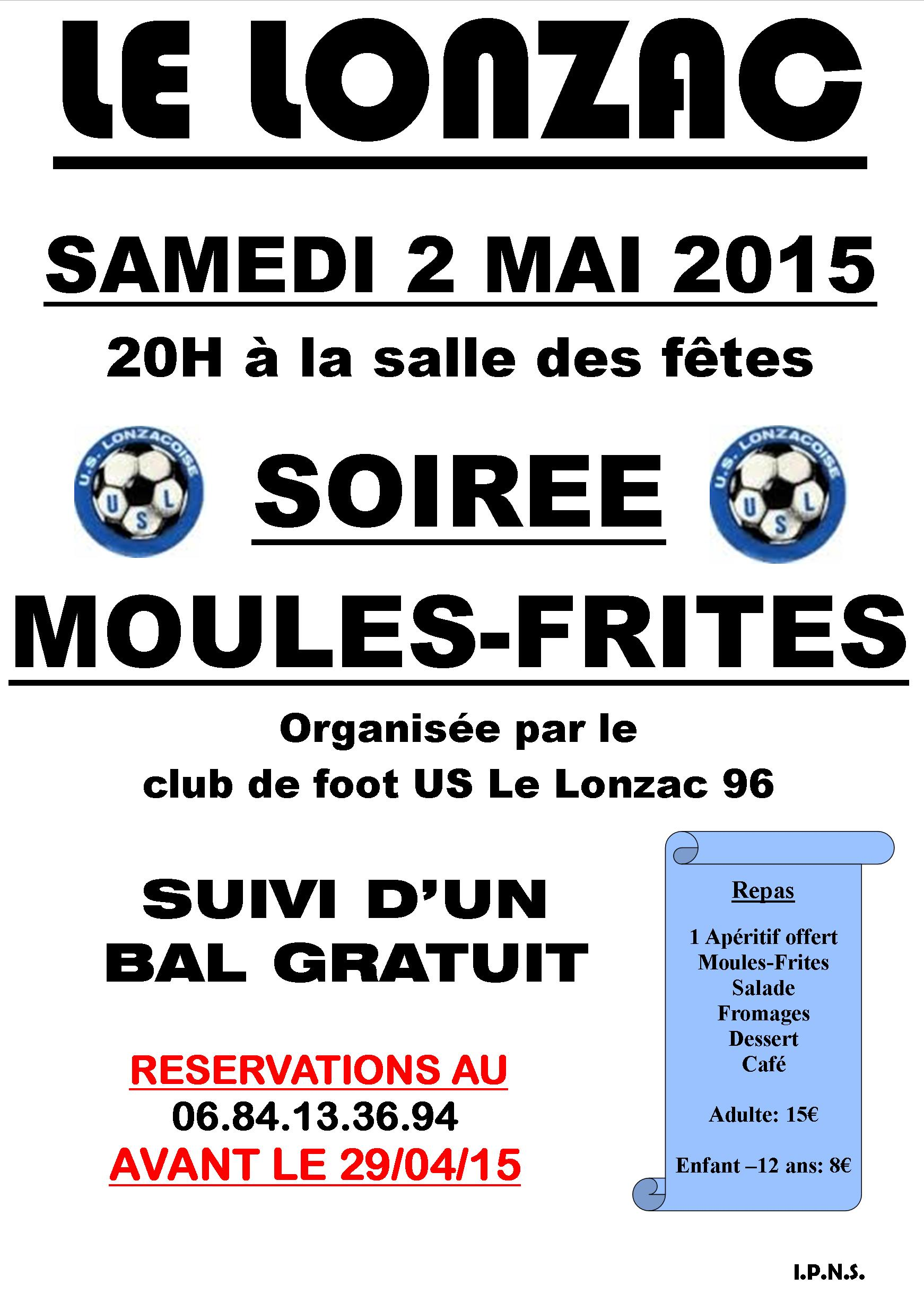 SOIREE MOULES FRITES 2015