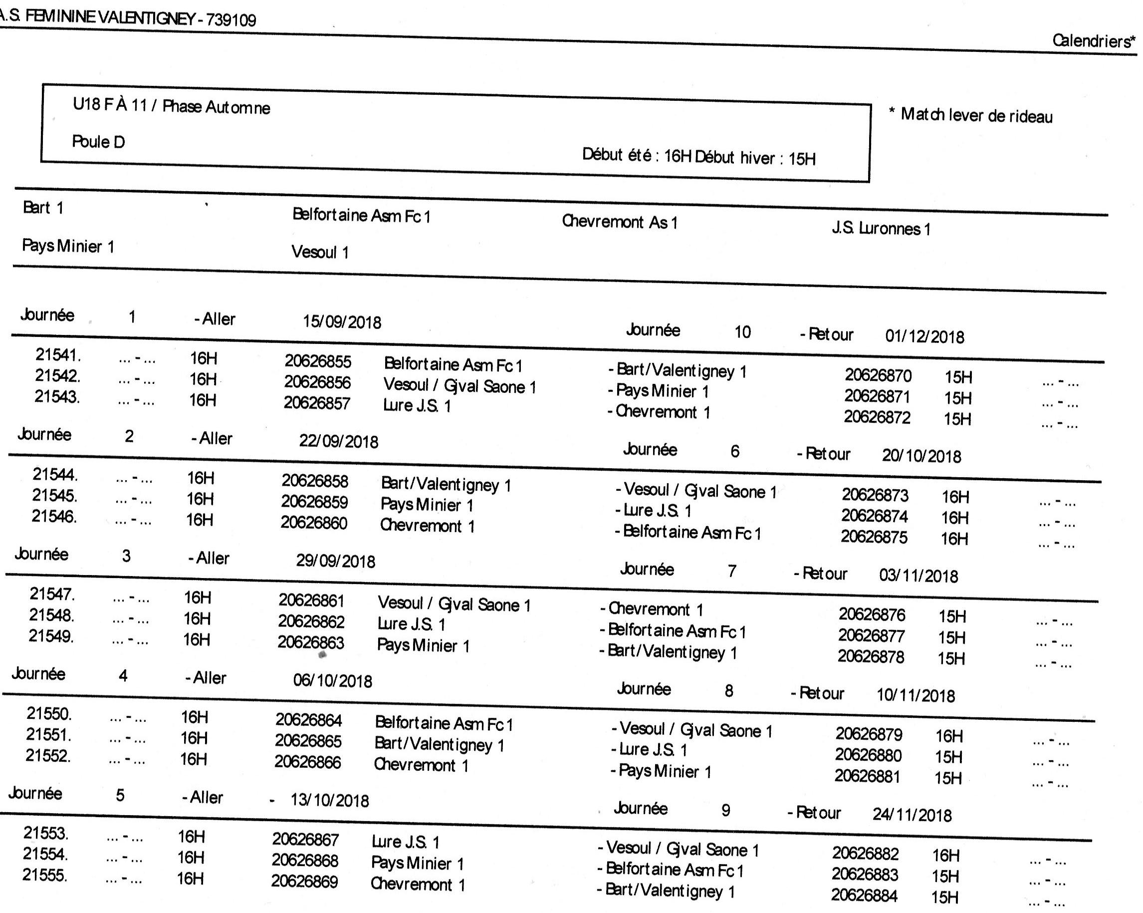 calendrier U18F entente Bart.jpg